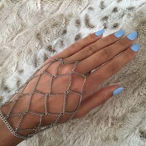 Jewelry - Ring-to-wrist chain bracelet